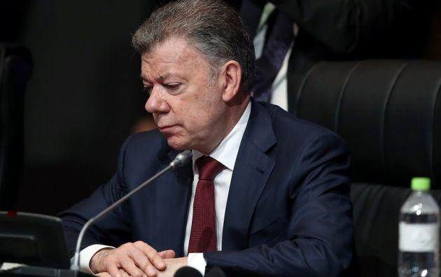 """""""Las víctimas muchas veces no exigen reparación, lo que quieren es verdad"""", apuntó Santos. Foto: Reuters"""