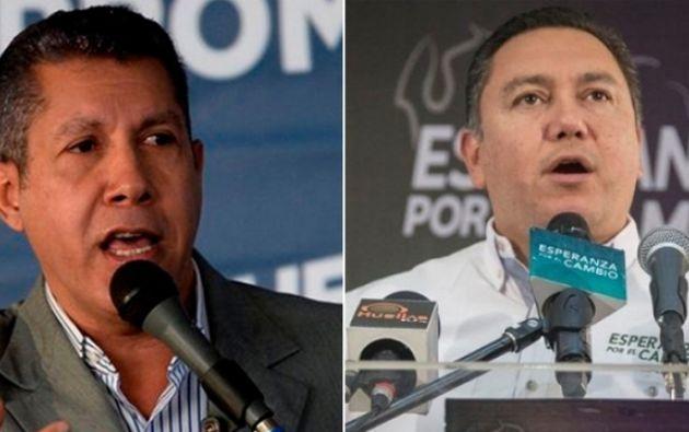 Los candidatos opositores Henri Falcón y Javier Bertucci. Foto por: maduradas