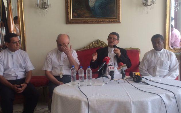 El arzobispo de Guayaquil, monseñor Luis Cabrera, dio a conocer las acciones realizadas respecto al caso.