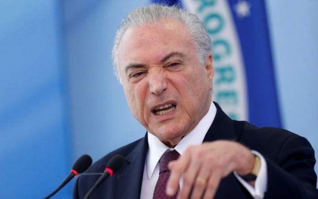 Temer completa dos años como el más impopular de los presidentes de Brasil. Foto: Reuters