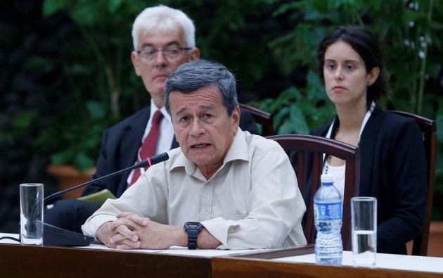 """En el reinicio de las negociaciones el 10 de mayo, el jefe negociador del ELN, Pablo Beltrán, expresó su preocupación por """"las dificultades"""" e """"incumplimientos"""". Foto: Reuters"""