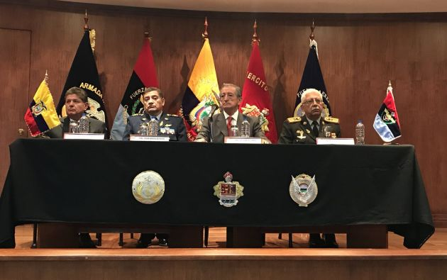 """""""Me refiero a que no habrá más el comando unificado"""", dijo Jarrín este 14 de mayo de 2018. Foto: Min. Defensa"""