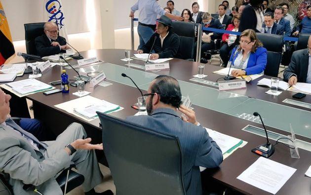 """El pleno resolvió también solicitar $2.4 millones adicionales para """"cumplir con el mandato popular"""". Foto: CPCCS"""