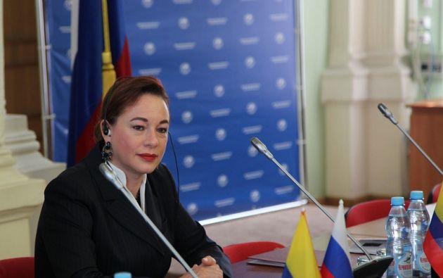 Espinosa se excusó de asistir a la Asamblea, en razón de que se halla en misión oficial fuera del país. Foto: Cancillería