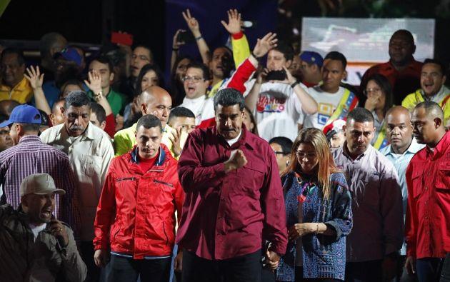 """Aunque celebró haber ganado por """"nocáut"""", Maduro se reeligió con un abstención histórica del 52%. Foto: Reuters"""