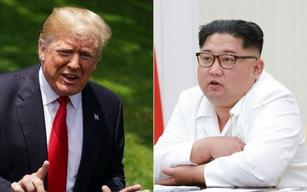 Trump y Kim habían acordado reunirse en Singapur para discutir mecanismos para que Corea del Norte interrumpa sus programas de armas nucleares. Foto: AFP