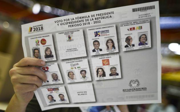 Inédito duelo presidencial entre izquierda y derecha en una Colombia sin FARC. Foto: AFP