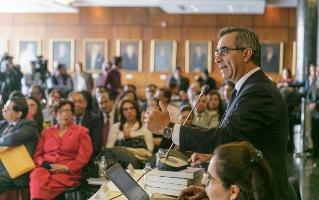 En su ejercicio del derecho a la defensa, el presidente de la Judicatura, reiteró que la figura del error inexcusable ha servido para mejorar la eficiencia del sistema judicial.
