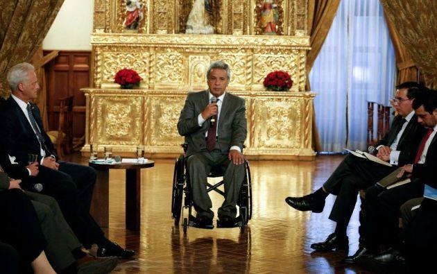 El mandatario recordó que esa misma petición la hizo al Gobierno español. Foto: Presidencia