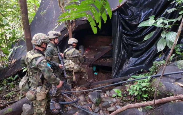 COLOMBIA.- Con este operativo de la fuerza pública, el grupo residual pierde alrededor de $240 mil. Foto: FTC Hércules