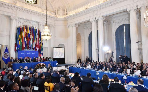 """""""Debemos tener un continente libre de dictaduras"""", dijo el secretario general de la OEA, Luis Almagro, un duro crítico de Maduro. Foto: AFP"""