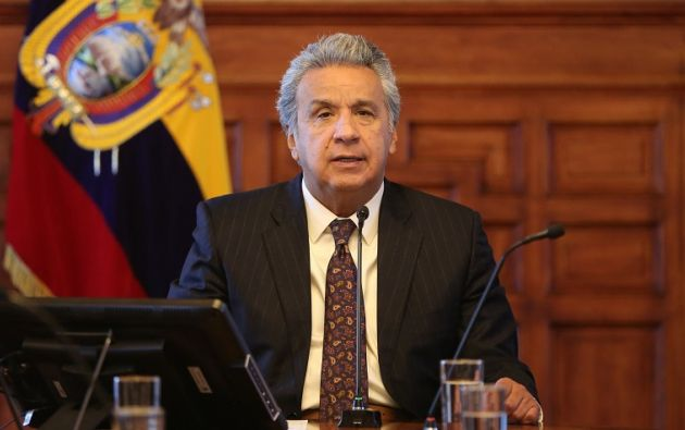 """""""Creo que con eso vamos a lograr que se refuerce el respeto, que en más de una ocasión, hemos manifestado que se debe tener por los otros seres humanos"""", dijo Moreno. Foto: Presidencia"""
