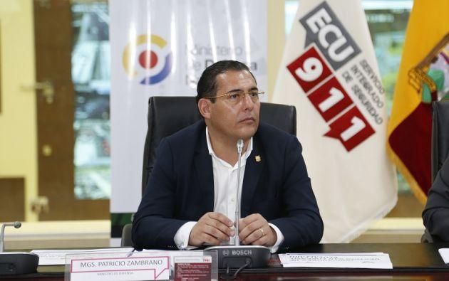 Patricio Zambrano renunció al cargo de ministro después de la crisis del equipo periodístico secuestrado y asesinado. Foto: Min. de Defensa