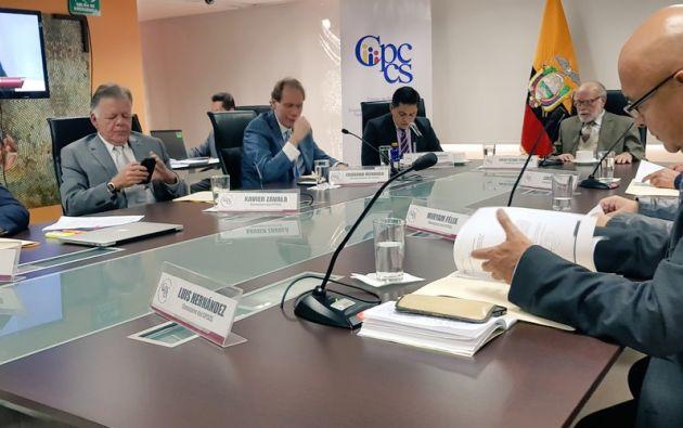 """Trujillo explicó que la resolución de hoy es """"definitiva y de última instancia"""". Foto: CPCCS-T"""