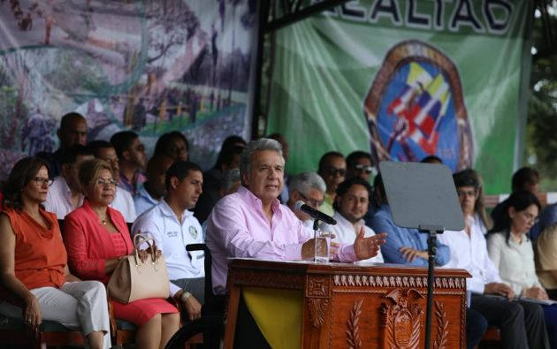 """""""Nuestra política de Defensa, Seguridad y Desarrollo es integral"""", dijo Moreno. Foto: Presidencia"""