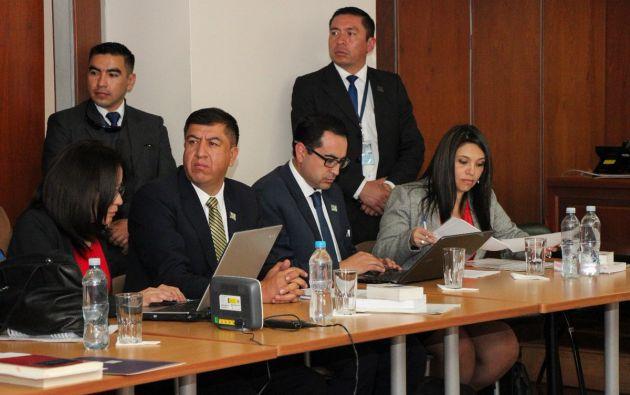 La petición se produjo en la audiencia de vinculación del exmandatario. Foto: Fiscalía