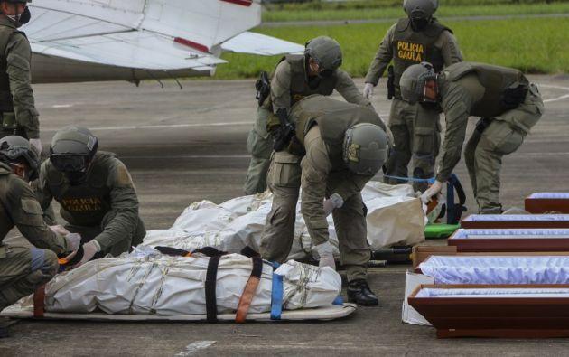 """El funcionario aseguró que los resultados de las necropsias se conocerán en """"entre 24 y 48 horas"""". Foto: AFP"""