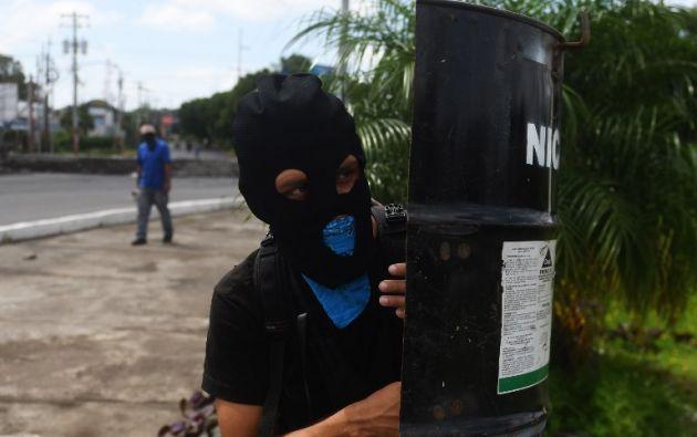 Las protestas comenzaron el 18 de abril contra una reforma a la seguridad social. Foto: AFP