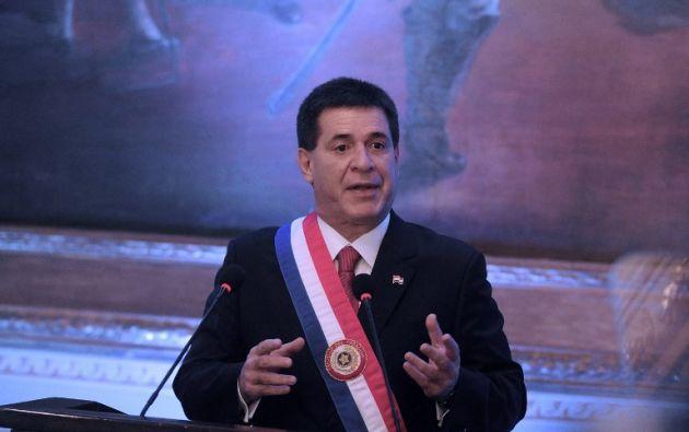 Cartes presentó la renuncia en mayo para no recaer en la duplicidad en sus funciones. Foto: AFP