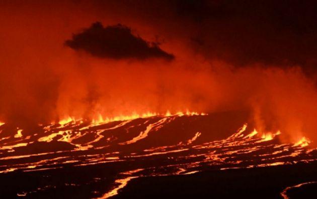 El Sierra Negra es el volcán más grande de la región insular ecuatoriana que tiene uno de los cráteres más grandes del mundo. | Foto: AFP