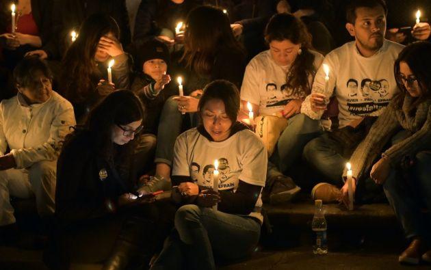 Quiteños acudieron al velorio de los ecuatorianos asesinados. Foto: archivo AFP