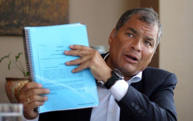 El exmandatario agregó que su acción se enmarca en convenciones internacionales y leyes nacionales. Foto: Reuters