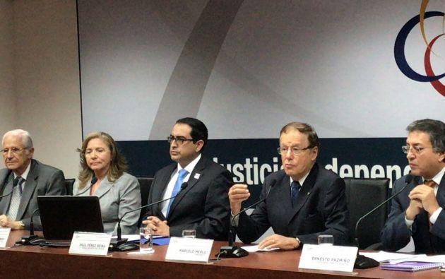 """""""Nos faltan médicos legistas, psicólogos, trabajadores sociales, insumos, etc"""", afirmó Aragundi. Foto: Judicatura"""