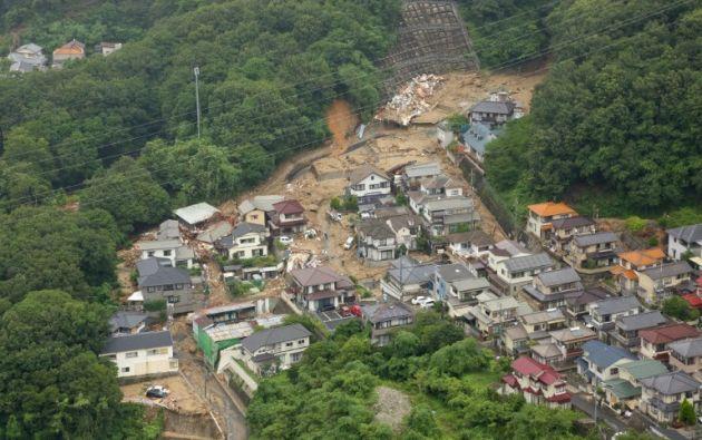 Al menos 30 muertos por lluvias torrenciales en Japón. Foto: AFP
