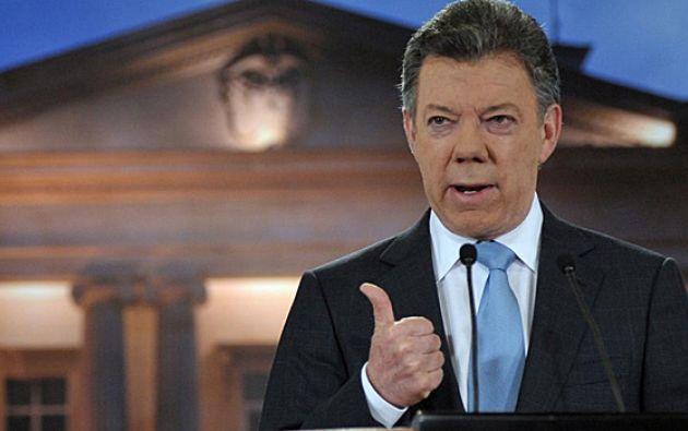 Santos entra en el último de sus 96 meses como presidente de Colombia. Foto: AFP - Archivo