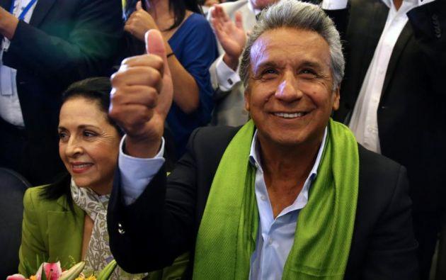 La aprobación de Lenín Moreno cae al 45,9%, según Cedatos. Foto: Reuters - Archivo