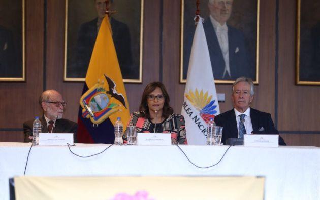 Cabezas explicó que esta ley no se contrapone con otros mecanismos de lucha contra la corrupción. Foto: Asamblea