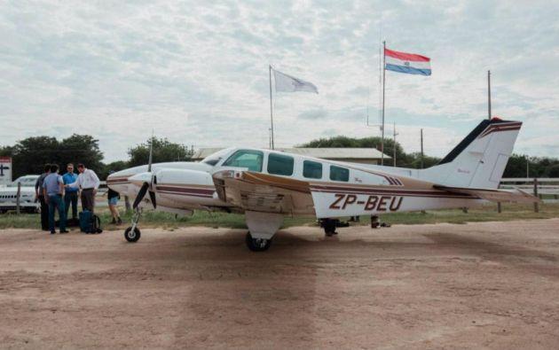 La avioneta, un modelo Baron BE58, partió desde Ayolas la tarde del miércoles. Foto: CNN