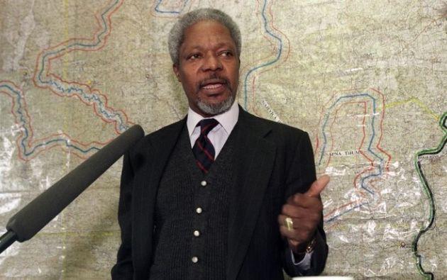 Muere el exsecretario general de la ONU, Kofi Annan. Foto: AFP