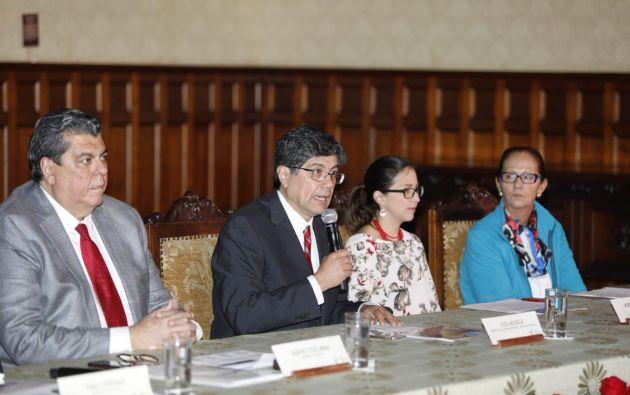 """Valencia recalcó que la """"decisión firme"""" del Ecuador busca ratificar la independencia de nuestro país. Foto: Cancillería"""