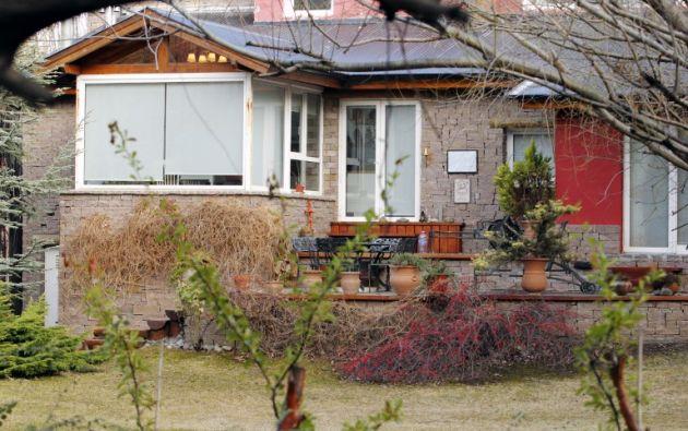 La residencia allanada es una casa de dos plantas en la localidad patagónica de El Calafate. Foto: AFP