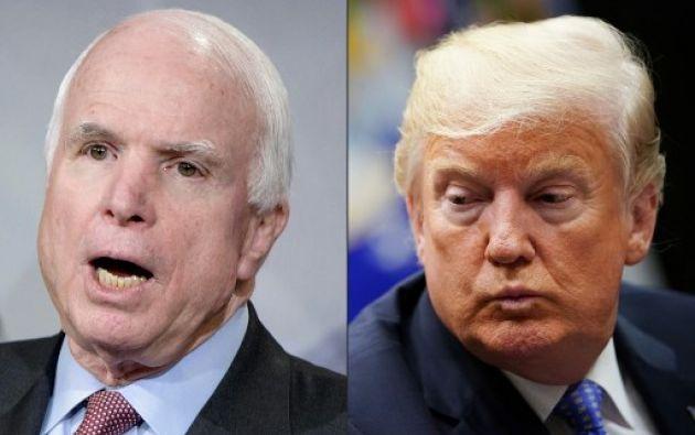 John McCain había pedido específicamente que el presidente no estuviera presente en su funeral. Foto: AFP