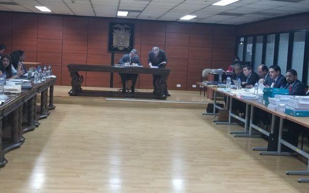 La fiscal general subrogante, Ruth Palacios, emitió dictamen abstentivo a favor de Wilson M., Xavier N. y Carlos G. Foto: Cortesía Corte Nacional de Justicia