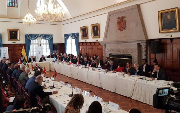 Ecuador.- Entre los temas planteados se refiere a la recepción documentación y admisión al territorio. Foto: Cancillería