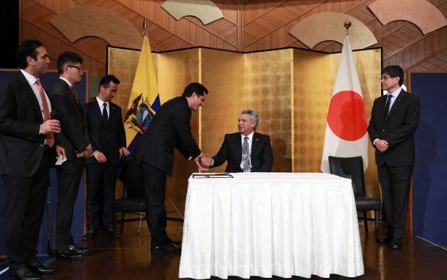 Moreno presidió la ceremonia conmemorativa del primer centenario del establecimiento de lazos diplomáticos entre ambos países. Foto: Flickr Presidencia