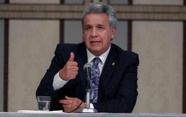 """Moreno anotó que """"la lucha es fuerte, unos pocos se llevaron mucha plata y nos engañaron de la peor manera"""". Foto: Flickr Presidencia"""