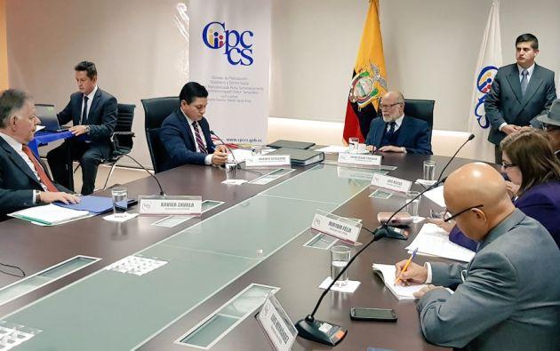 El consejero Xavier Zavala lamentó los incidentes que se están suscitando en el Consejo. Foto: Twitter Participación Ciudadana