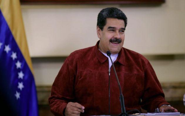 """""""Esto es una sola vez en la vida"""", celebra Maduro junto a su esposa Cilia Flores. Foto: archivo AFP"""