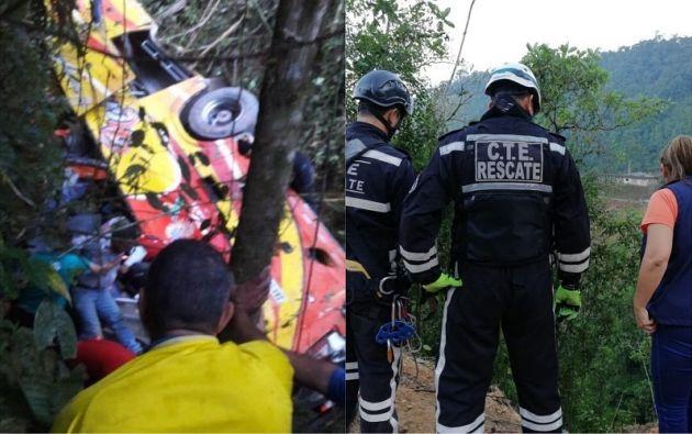 El accidente ocurrió alrededor de las 04.25 en la vía Balsas-Machala.