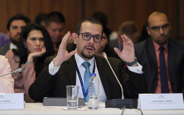 """""""Es imposible en 3 o 4 meses erradicar la corrupción de un aparato de justicia"""", manifestó Albán. Foto: Flickr Judicatura"""