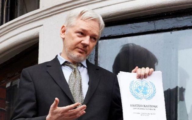 Assange, de 47 años y nacido en la ciudad australiana de Townsville, no ha abandonado la legación diplomática desde 2012. Foto: AFP