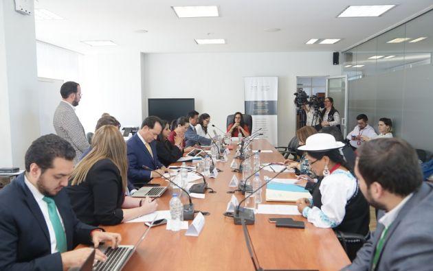 Aguiñaga no descarta incluir temas que constan en el proyecto de Ley Anticorrupción que fue vetado. Foto: Asamblea Nacional