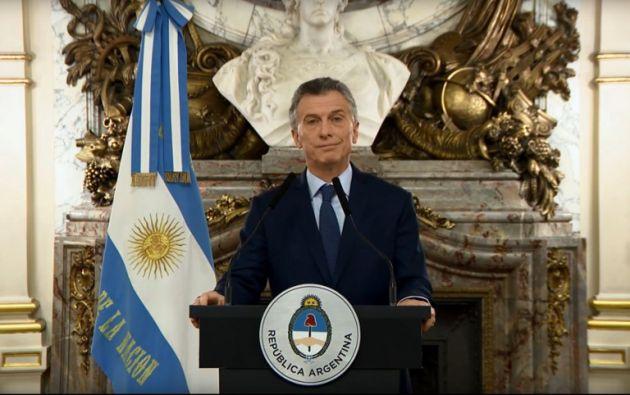 Macri, quien está desde el fin de semana en Nueva York, se reunió el lunes con inversionistas. Foto: AFP