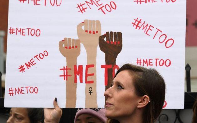 El hashtag #MeToo es símbolo del movimiento. Foto: AFP