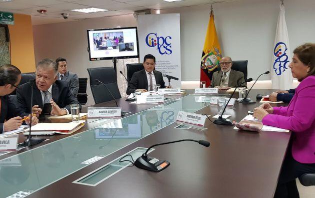 La Comisión Calificadora cumplirá con la designación de los nueve magistrados de la Corte Constitucional. Foto: Twitter CPCCS
