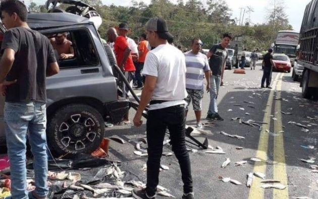 14 muertos en accidentes de tránsito en un solo día en Ecuador. Foto: Twitter @cristianviterin